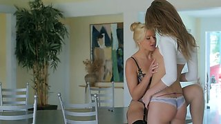 Blonde MILF wants her hot pussy licked by her lesbian lover