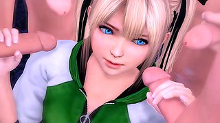 Best 3d hentai anime doa mary rose had bad trip in jail