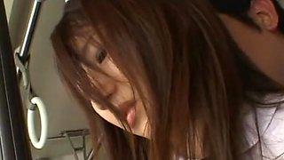 Hottest Japanese model Akane Mochida, Rina Himekawa in Crazy Teens, Bus JAV clip