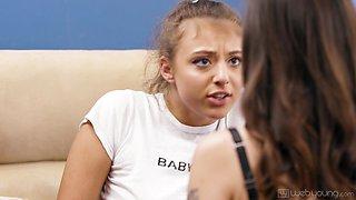 Naughty stepsister licks pussy of seductive stepsister Alex De La Flor