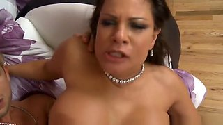 Snazzy silicone breasted experienced lady Teri Weigel gives a magic BJ