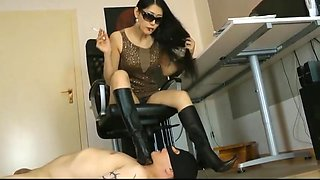Mistress humiliating her footboy