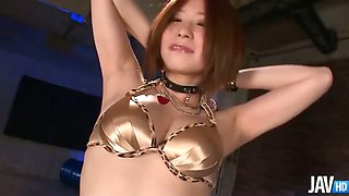 Peace loving Ruri Haruka strips out of her clothes to show