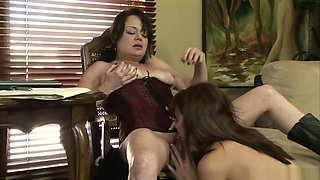 Amazing pornstars Bella Von Blue and Elli Foxx in crazy lesbian, masturbation porn clip