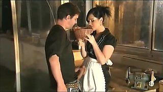 French maid loves anal and she wants to be fucked