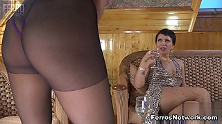 Pantyhose1 Clip: Mireille and Viola