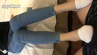 chinese white peds socks