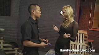 Raw Fucking Sex - Party Slut Chloe Conrad Fucks An Asian Cop