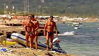 Muscle beach boys orgy outdoors