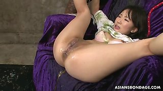 perv squad fill ai mizushima's tight ass with egg yolks, gooey lube and gallon of piss