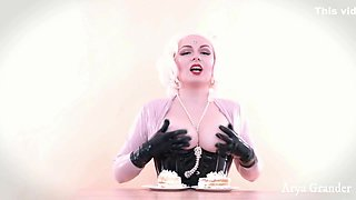 Cake Teasing By Boobs 4k Sexual Video With Food Fetish And Naked Big Natural Tits