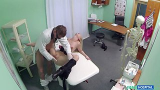 Doctor Gives Gorgeous Blonde A Dose Of Cock