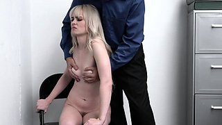 Lilly's tight pussy got pounded as punishment
