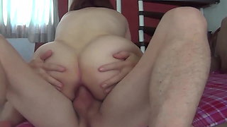 Riding pussy and ass