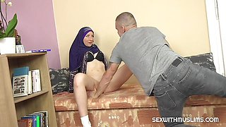 Cute muslim teacher gives special lesson