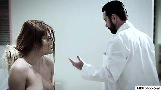 PureTaboo: Virgin teen Adria Rae wants bigger boobs but her doctor is a perv on PornHD