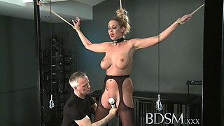 BDSM XXX Master gives blonde beauty a hardcore lesson