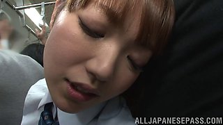 Hairy pussy Japanese amateur chick gets fingered by Uta Kohaku