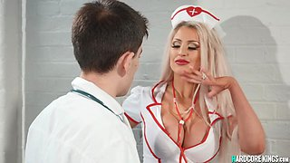 Huge tits blonde nurse banged by doctor