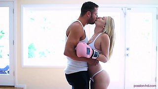 Lovely Natalia Starr gets her pussy filled with a long stiff dick