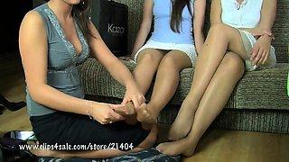 Ninon and Meggy nylon lesbian video