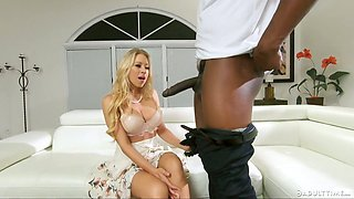 Lewd cuckold prefers to tape the way cheating Katie Morgan works on BBC