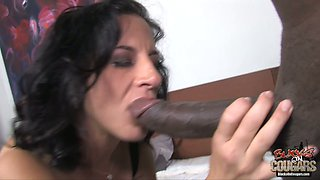 Brutal African man fucks chubby brunette mommy Melissa Monet in mish pose
