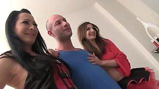 Romain Sisters Get Ganbanged