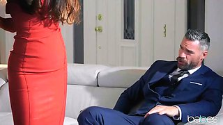 Handsome businessman is fucking his best friend's wife, Gianna Dior, while they are alone at home