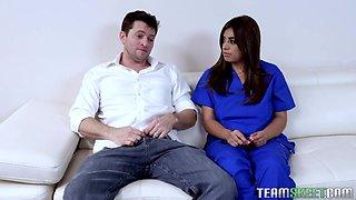 Home health nurse Ella Knox gets intimate with one handsome patient