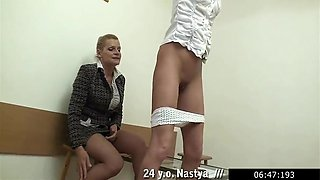 Brutal Russian Mommy Selena Spanking Them