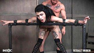 bondage emo cums from heavy fucking