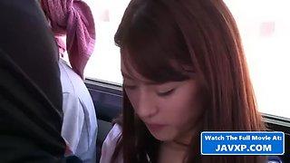 Asian schoolgirl fucked on the japanese bus