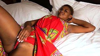Beautiful African Woman Deep Throats