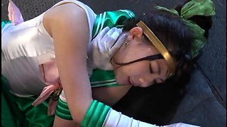 Petite Japanese teens in uniform engage in hot group sex