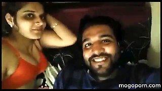 Honeymoon night romantic love of real indian couple mogoporn.com