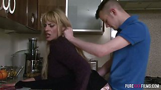 Mouth watering milf Brittany Bardot is having dirty sex with her stepson