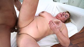 Horny grandma has an affair with young lover