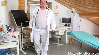 Old pussy exam for hot granny Lotty Blue
