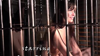 Stimulation for slave restrained in bondage bdsm
