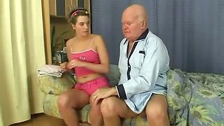 Grandpa gets to have a fun sexy time