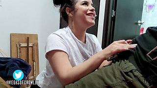 Sweet Venezuelan girl Sucking cock and eating cum