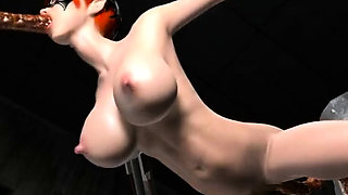 Blonde hentai anime girl masturbating