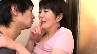 Luscious Japanese milf braces herself for a deep pounding