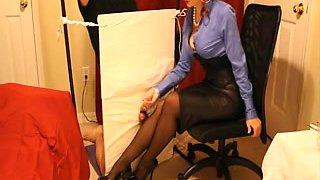 Corset Heels Stockings &  Satin Headmistress