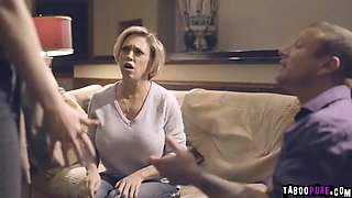 Maya kendrick welcomes in the family with some hard cock