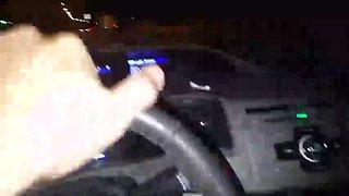 Wife Flashing in car