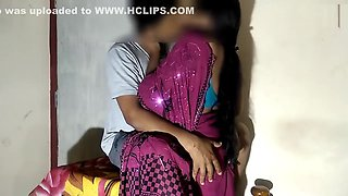 Indian Big Boobs Saari Girl Late Night Blowjob Fuck & Cum Inside