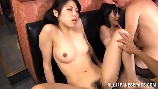 Stunning Asian Babes Getting Drunk Then Have Group Sex
