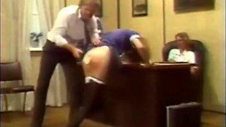 German schoolgirls spanked hard